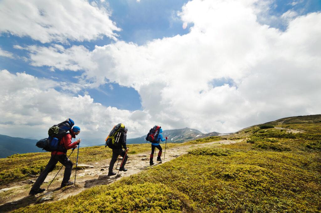 Sportieve tochten in de bergen